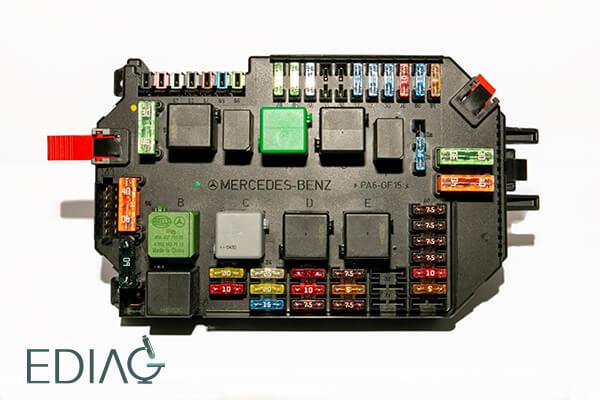 Mercedes-Benz Sam korin ohjausmoduulin korjaus a2215455032 S CLASS W221 CL S63 AMG